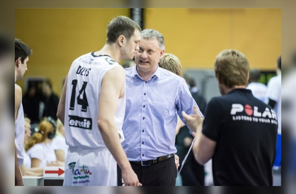 TÜ Rocki peatreener Gert Kullamäe ja Vilmantas Dilys