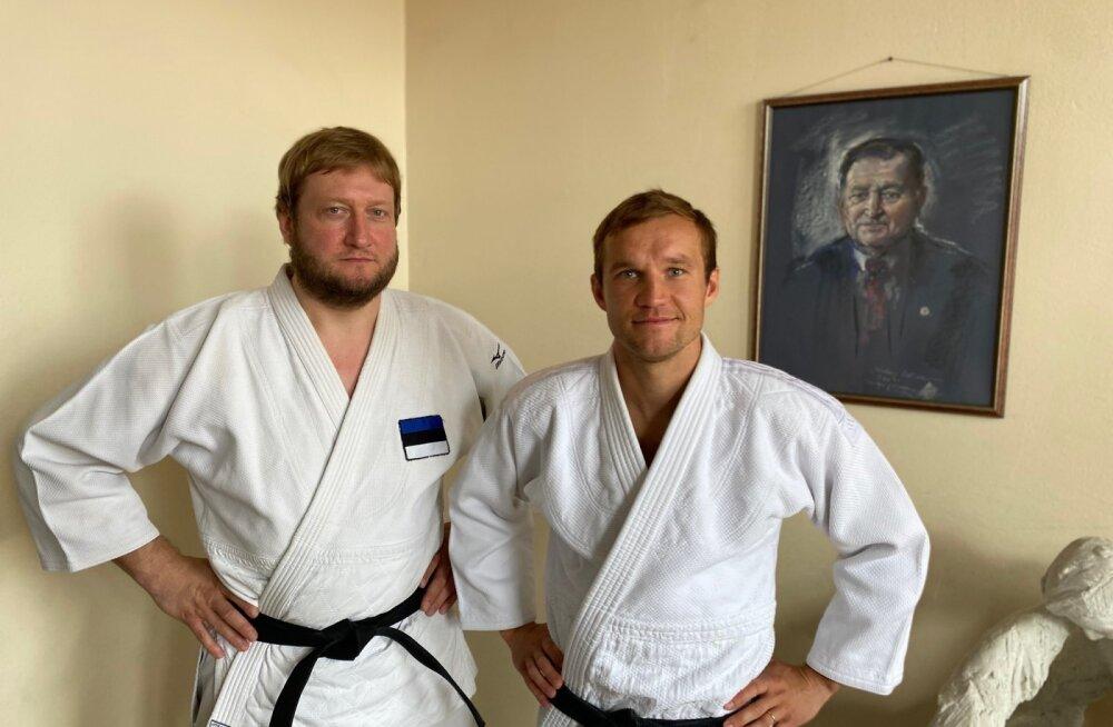 Martin Padar ja Martin Järveoja judotrennis