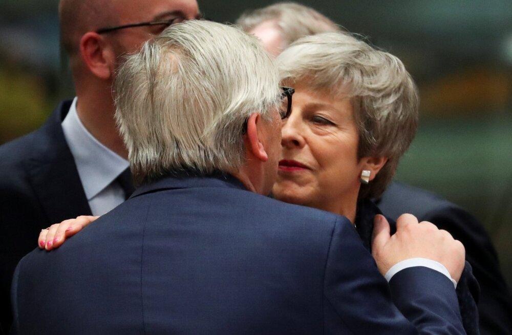 Theresa May ja Jean-Claude Juncker vaatasid eile teineteisele sügavalt silma.