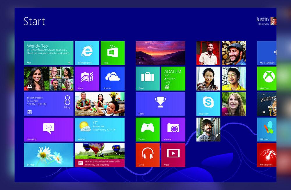 ALTMINEK? Windows 8 astus Start-nupu kaotamisega valusalt reha otsa