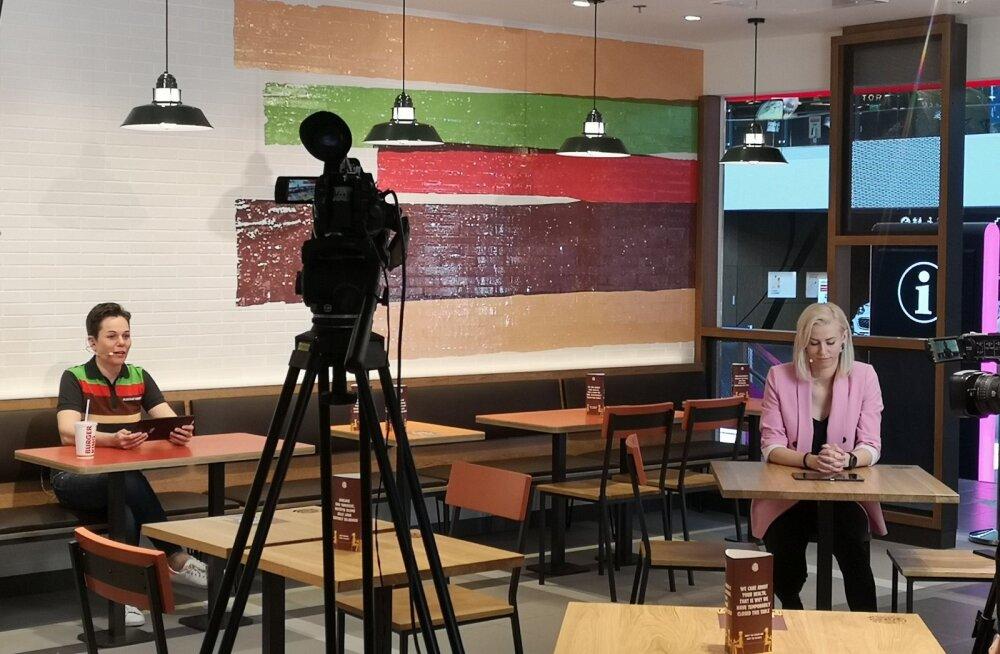 ФОТО: В Эстонии виртуально открылись первые рестораны Burger King