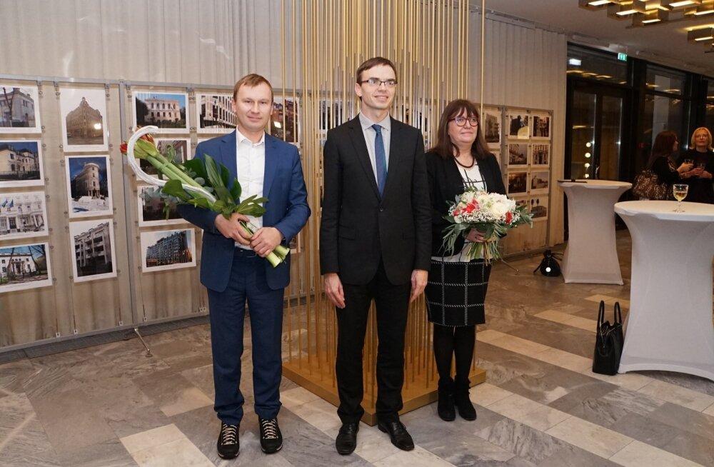 Ilona Gurjanova, Andrus Kõresaar ja Sven Mikser