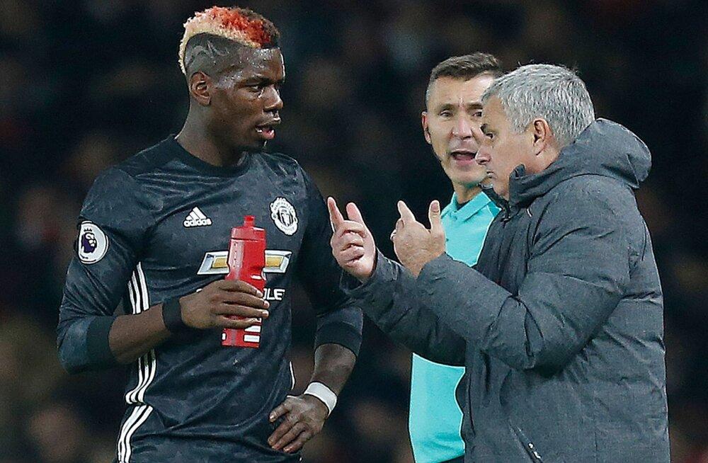 Paul Pogba ja Jose Mourinho
