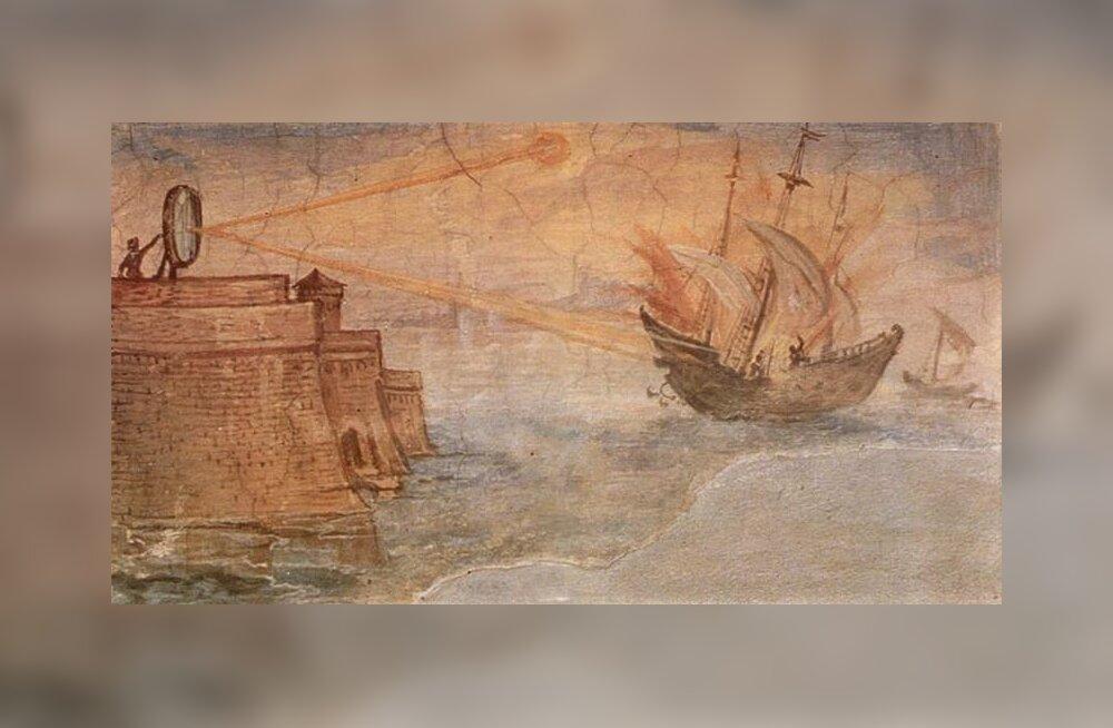 Archimedes ei tapnud roomlasi peeglite, vaid aurukahuriga