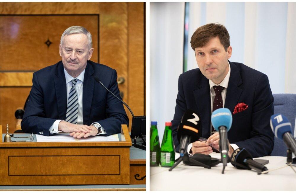 Riigikogu aseesimees Siim Kallas ja rahandusminister Martin Helme