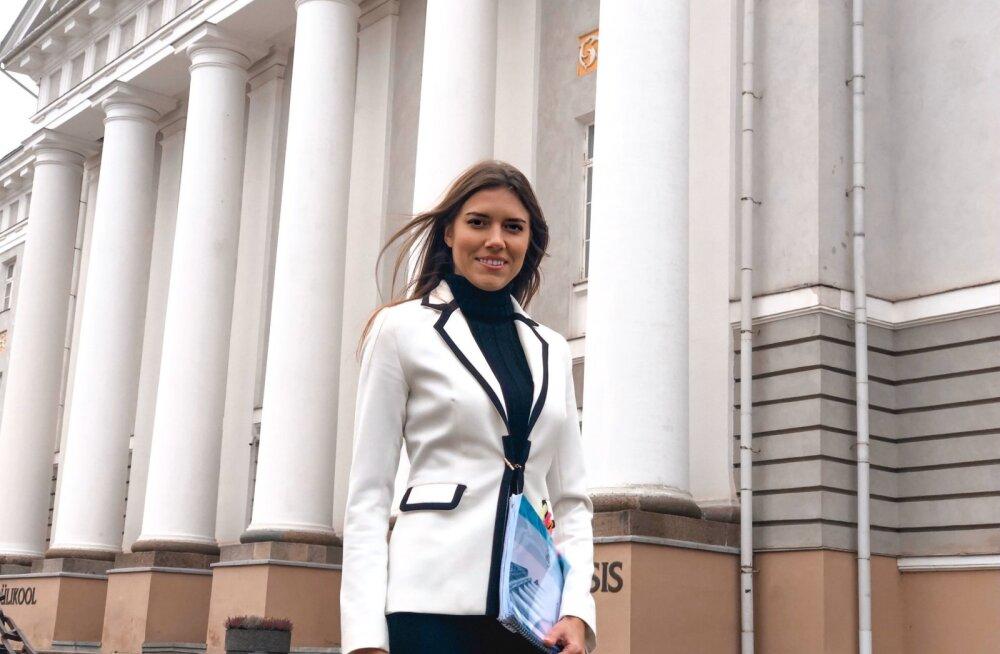 Анастасия Коваленко успешно защитила степень магистра на факультете экономики ТУ