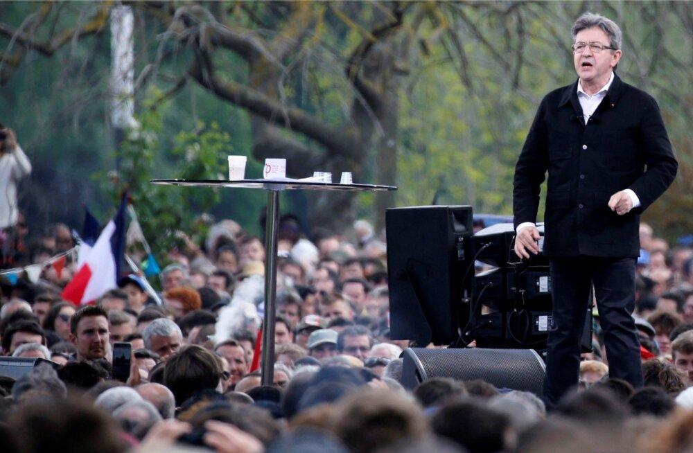 Mélenchoni pühapäevane kampaaniaüritus Toulouse'is meelitas kohale kümneid tuhandeid kuulajaid.