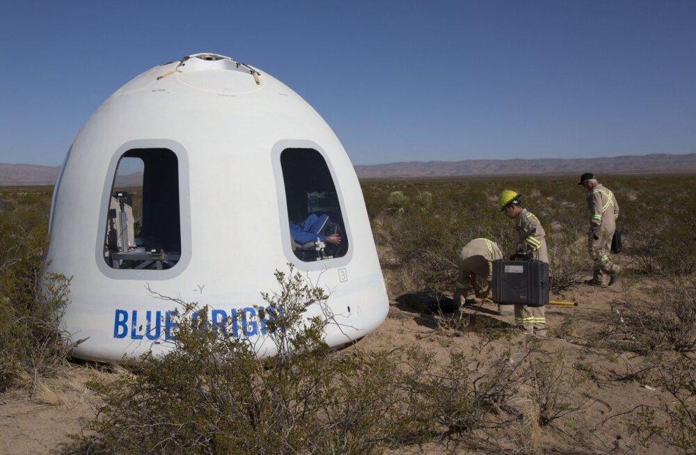 Blue Origin astus oma kosmoseturismi plaanides äsja pika sammu edasi