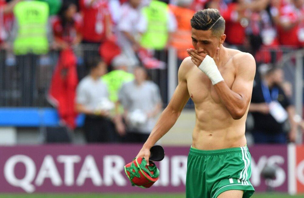Kaotus võttis Maroko mängumehel Faycal Fajr'il silma märjaks.