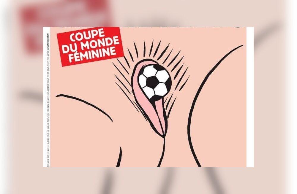 Charlie Hebdo karikatuur naiste jalgpalli MM-ist.