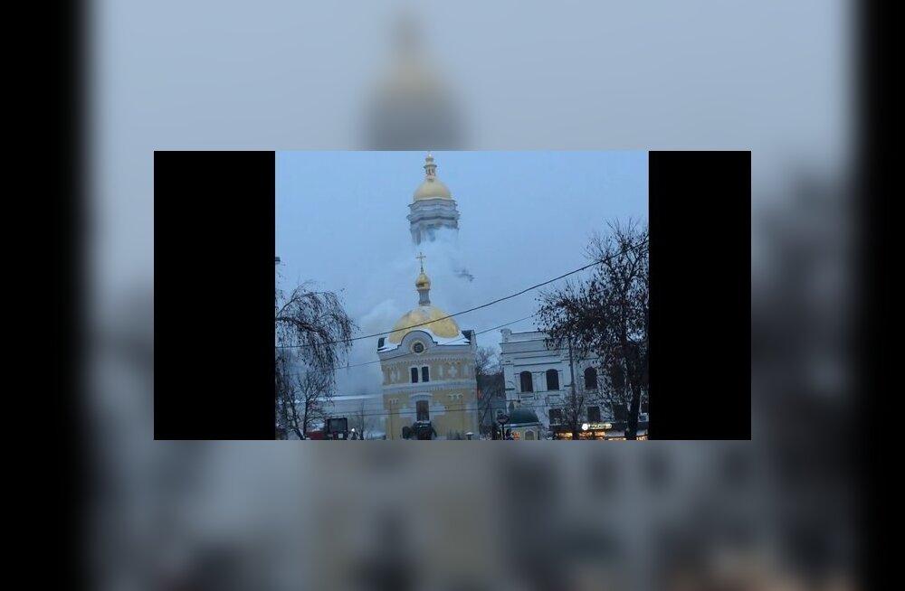 ВИДЕО: В Киеве горит Киево-Печерская лавра