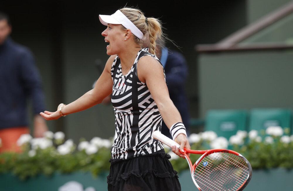 Australian Openi võitja Kerber langes Pariisis juba avaringis
