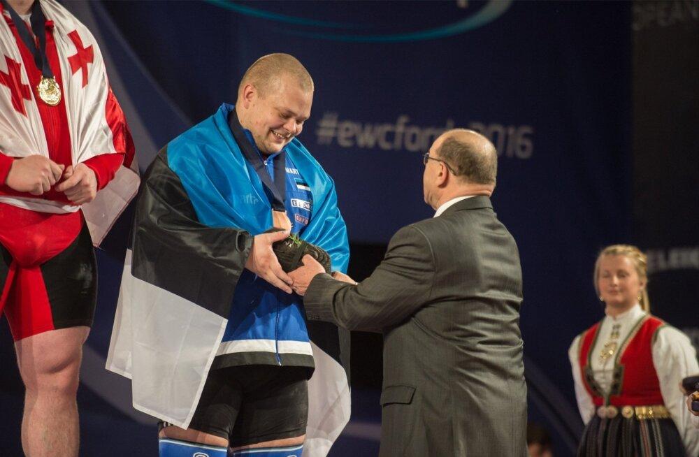 Mart Seim sai 2016. aastal EM-pronksi kaela Jaan Taltsilt.
