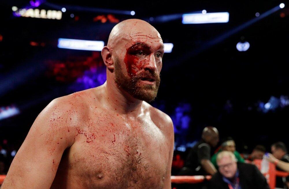 Tyson Fury pärast võidukat matši Las Vegases.