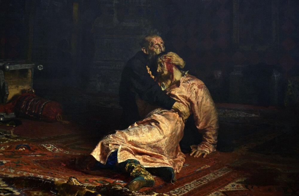Ilja Repini kuulus maal rikuti Moskvas teibaga