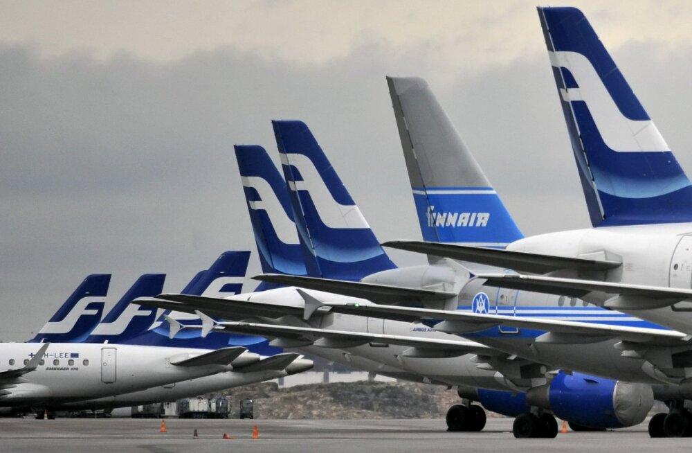 Finnairi tänased Tallinna ja Tartu Helsingi lennud jäävad ära