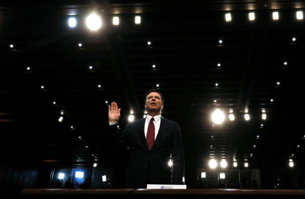 Endine FBI juht James Comey tunnistas eile senati luurekomitees, et pidas Trumpi neljasilmavestlustes öeldut surveavaldamiseks ja see tegi talle tõsist muret.