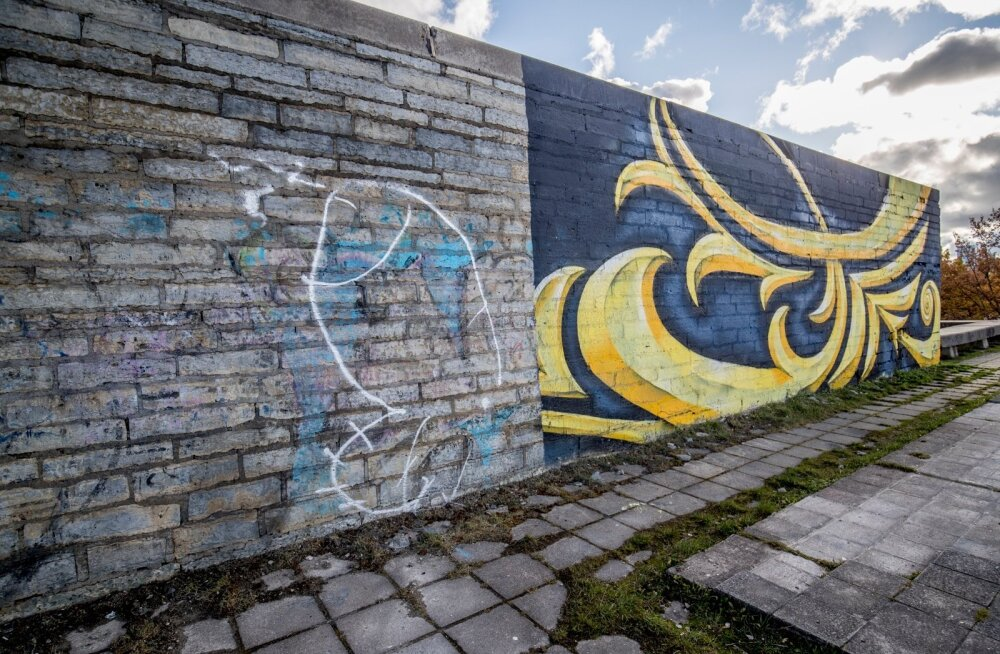 Linnahalli seinad joonistati täis