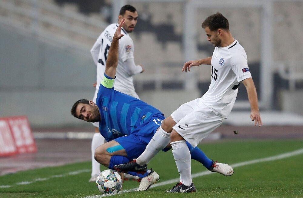 Rauno Sappinen mängus Kreekaga