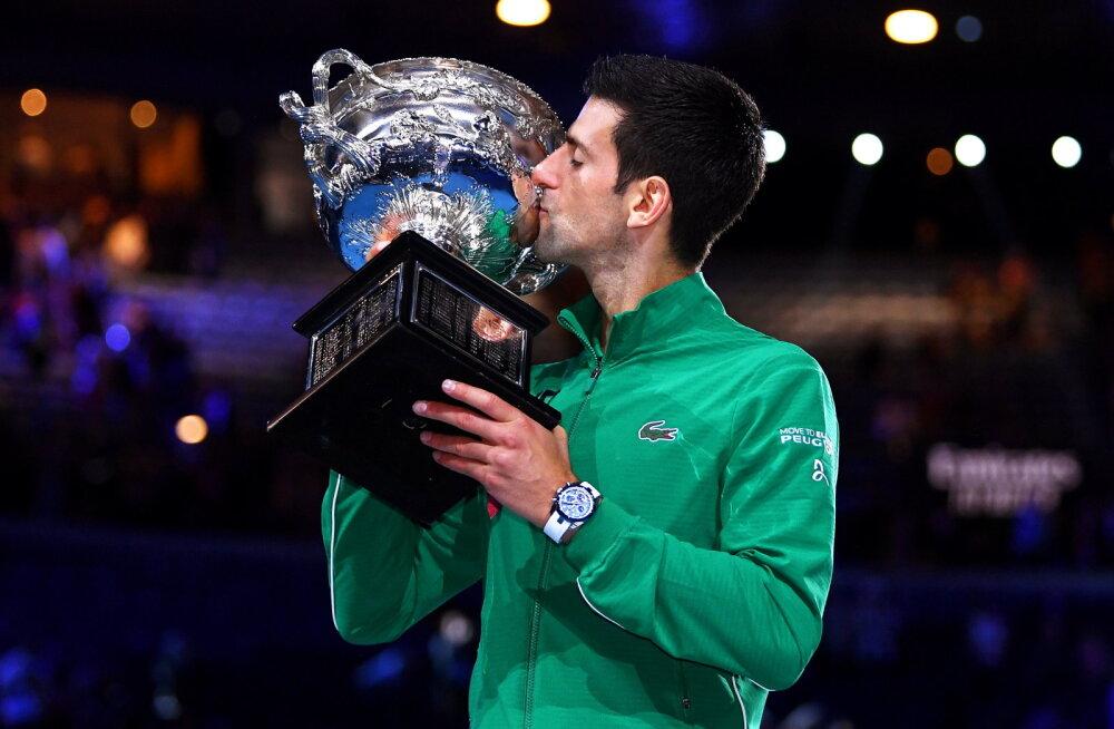 VIDEO | Austraalia lahtistel ajalugu teinud Djokovic astus sammu Federerile ja Nadalile lähemale