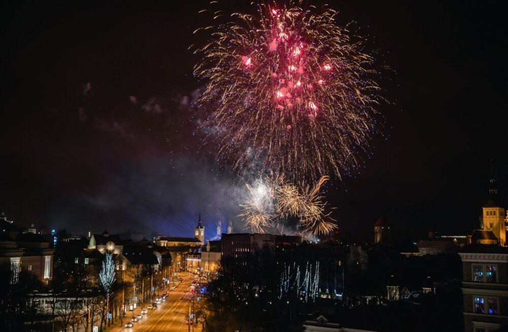 Tallinna ilutulestik 2019-2020 Nordic Hotel Forum katuselt