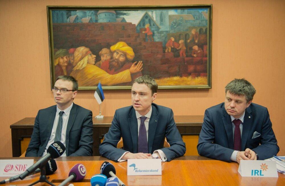 Koalitsiooni läbirääkimiste pressikonverents