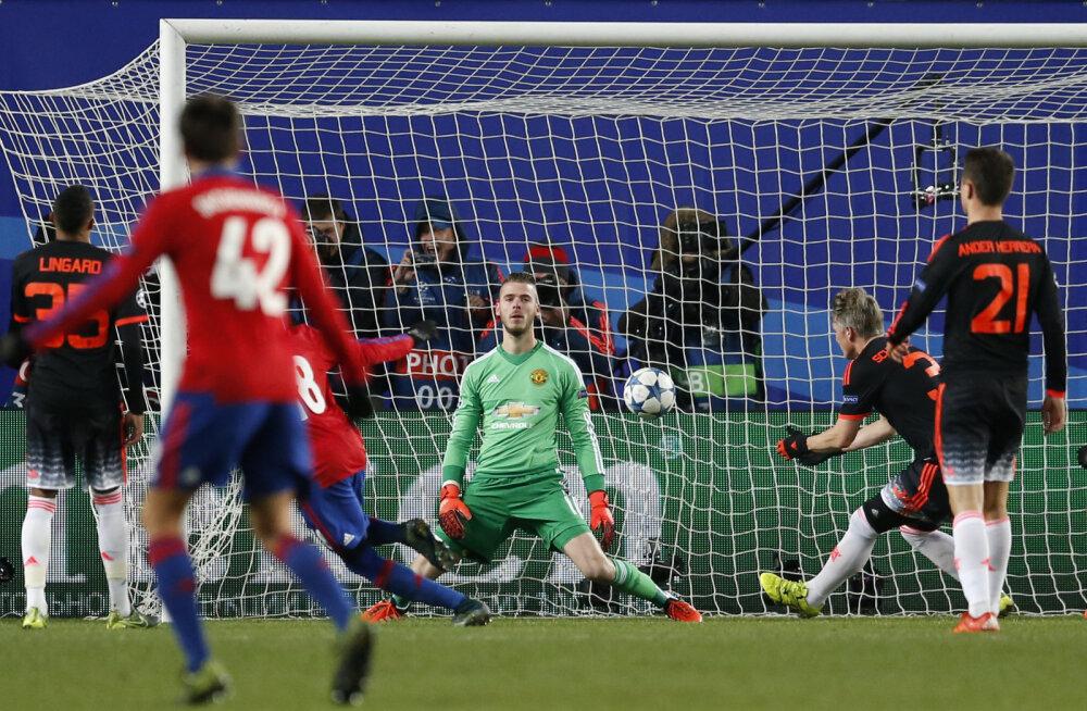 FOTOD: Manchester United leppis Moskva CSKA vastu viigiga, PSG ja Madridi Real väravaid ei löönud