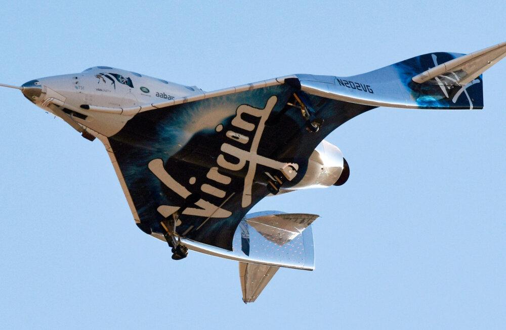 Virgin Galactic tegi ajalugu ja lennutas oma rakettlennuki kosmose piirile