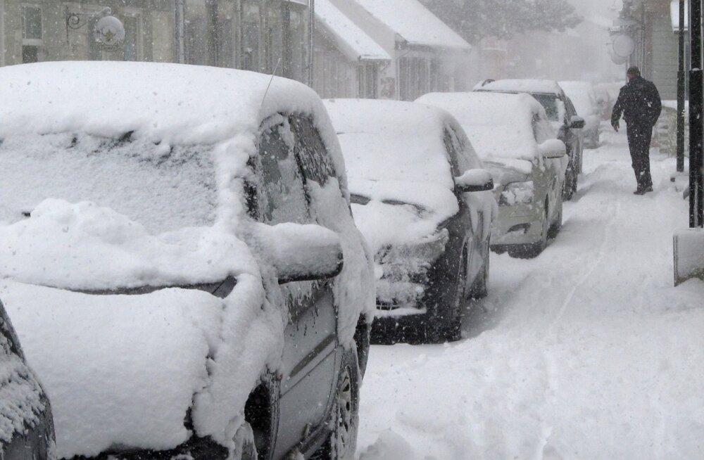 Saaremaale saabus talv