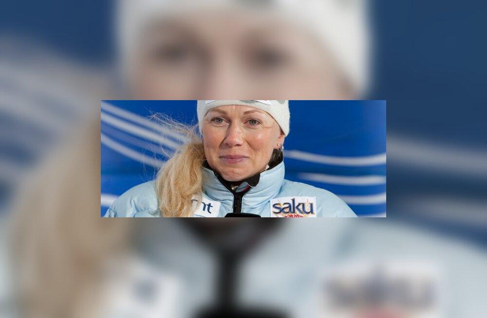 Kristina Šmigun-Vähi end treeningutel tagasi ei hoia