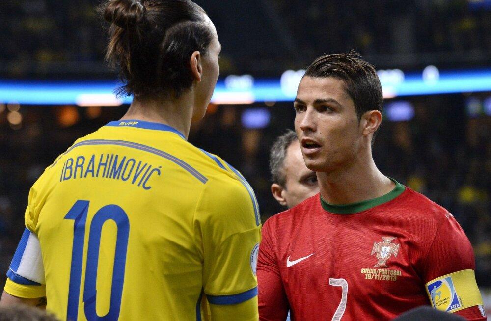 Zlatan Ibrahimovic ja Cristiano Ronaldo