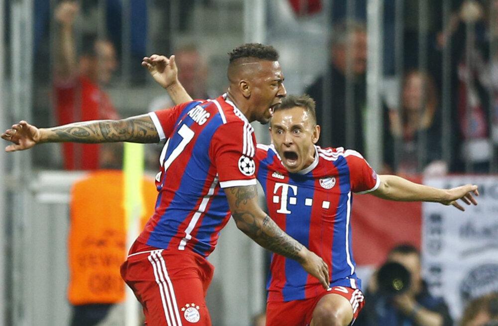 VIDEO JA FOTOD: Bayern vastas üllatuskaotusele hävitustööga ning pääses poolfinaali