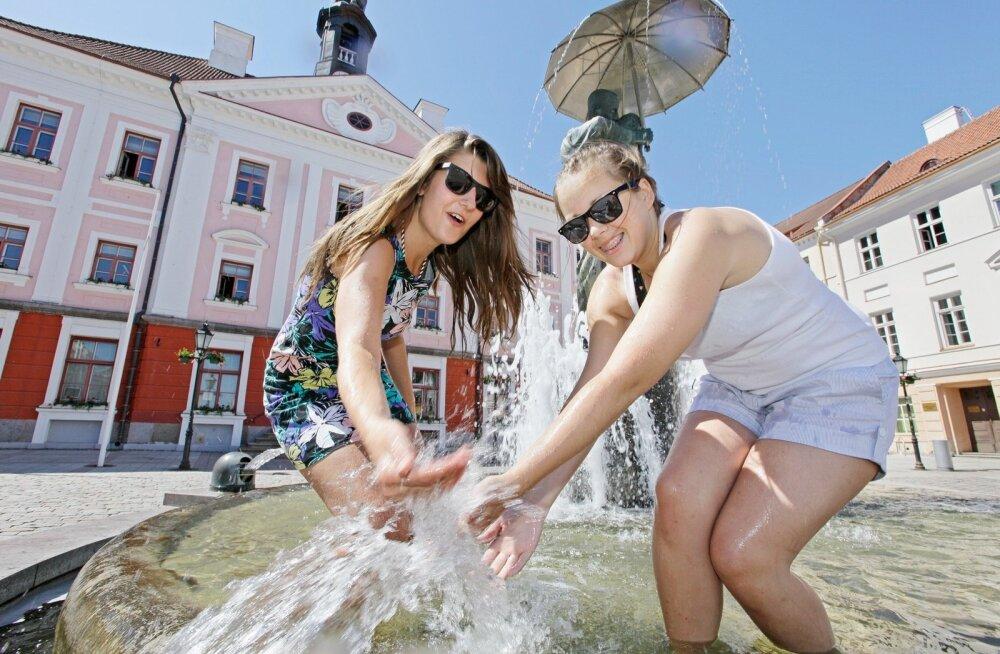 На работе или дома? Смотрите, какая сейчас погода в разных уголках Эстонии