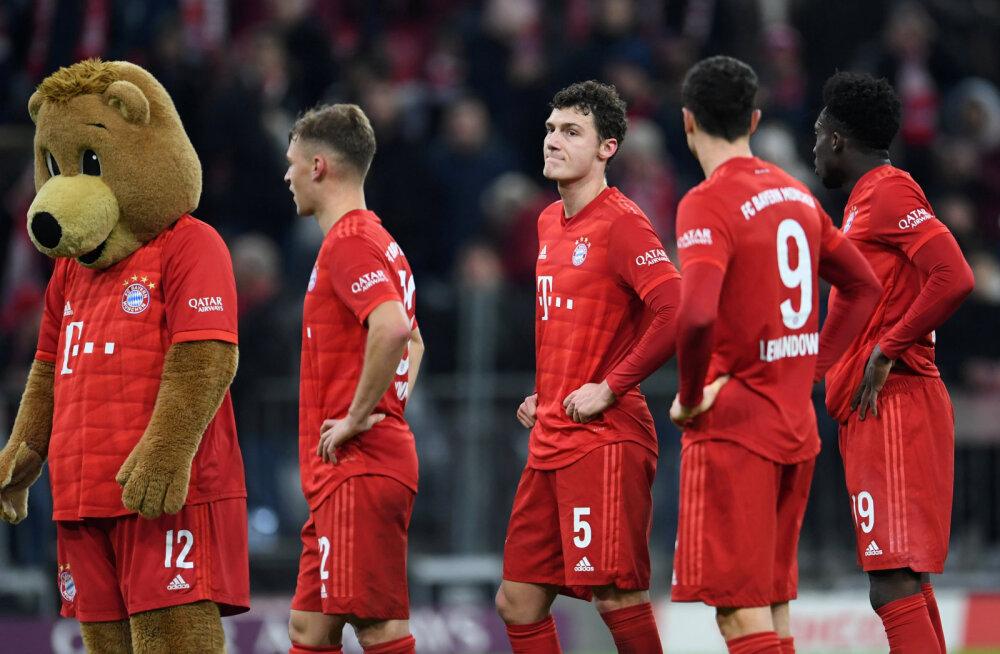 Müncheni Bayern pidi koduväljakul kaotust tunnistama, Bundesliga sai uue liidri
