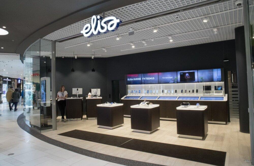 Elisa esindus Ülemiste keskuses