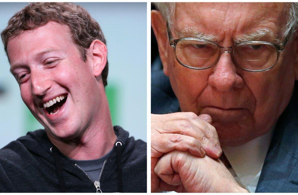 Mark Zuckerberg (vasakult) ja Warren Buffett.