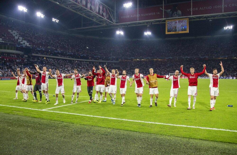 Ajax astus suure sammu Meistrite liiga alagrupiturniiri suunas