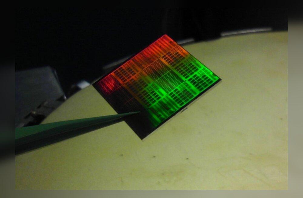 Loodud grafeentransistor. (Foto: IBM Zürich)
