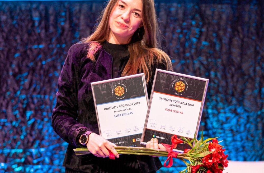 Unistuste Tööandja 2020 tiitli võttis eile Kutuurikatlas vastu Elisa Eesti personalispetsialist Maarja Nilk.