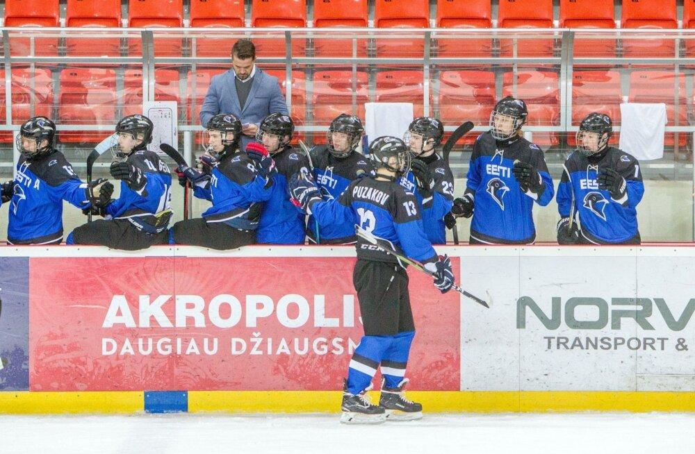 Eesti U18 hokikoondis MM-turniiril Leedus