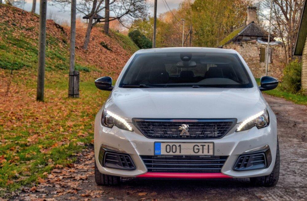 Peugeot 308 GTi – rajale on soovitav minna tühja kõhu ja vähese kütusega