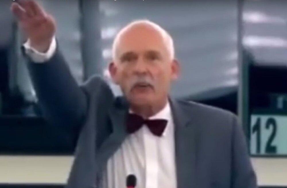 VIDEOD: Europarlament karistas Itaalia ja Poola rahvaesindajaid natsitervituse eest