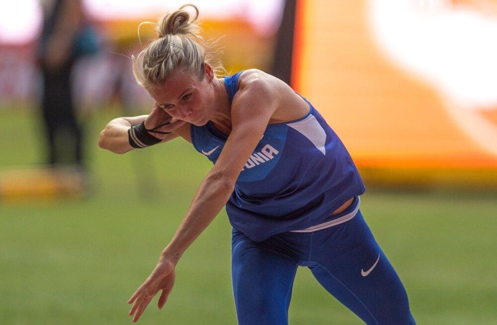 Grit Šadeiko parandas kuulitõukes isiklikku rekordit 90 sentimeetrit.