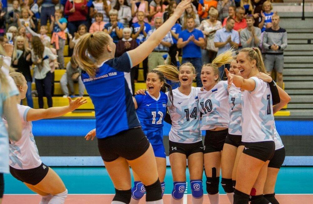 Eesti naiskond pärast viimast võitu Kosovo üle