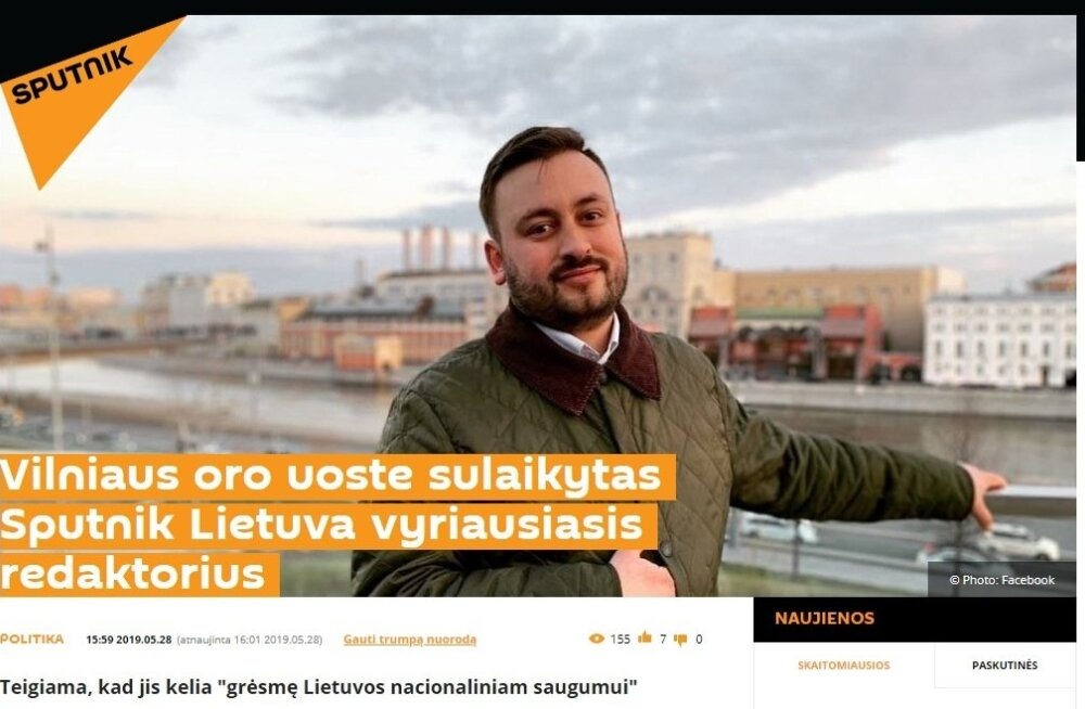 Sputniku Leedu peatoimetaja peeti lennujaamas kinni