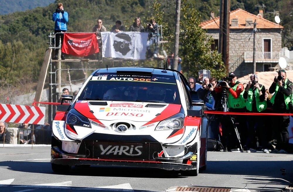OTt Tänak Toyotaga Korsika rallil.