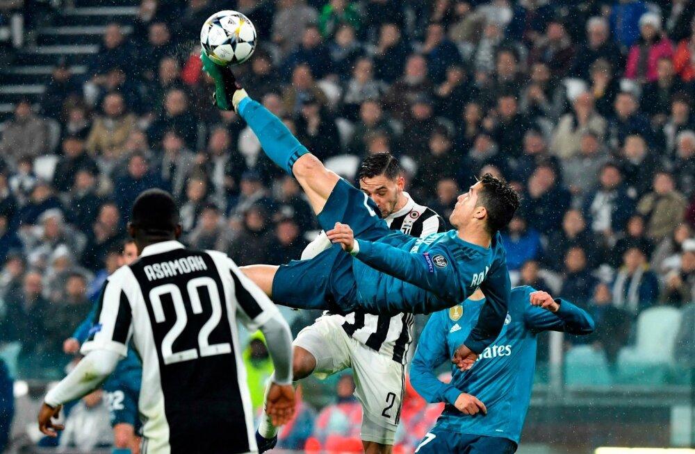 Cristiano Ronaldo käärlöök Torino Juventuse vastu.