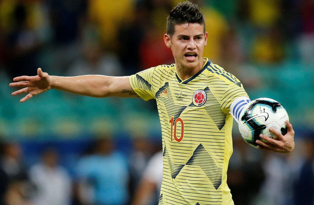 Kus mängib uuel hooajal Kolumbia täht James Rodriguez?
