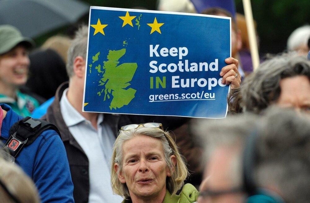 Šotlased toetasid kolm aastat tagasi juunis toimunud rahvareferendumil Euroopa Liitu edasi jäämist.