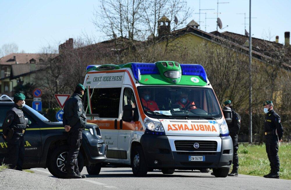 Koroonaviirusesse nakatunute arv Itaalias tõusis eile 400-ni